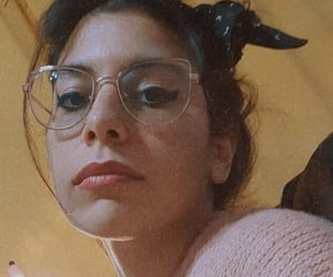 glasses, lips, and makeup image
