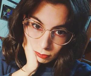 brunette, glasses, and hair image