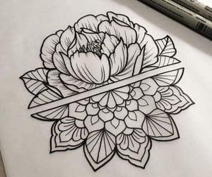 flower, tattoo, and mandala image