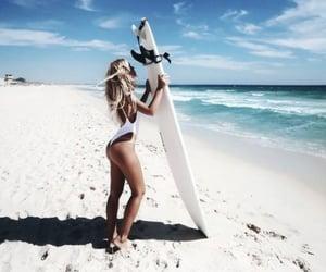 ocean, surfboard, and summer image