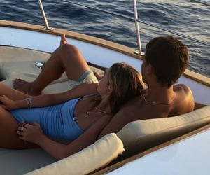 couple, boat, and love image