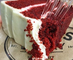 cake, red velvet, and dessert image