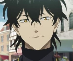 anime, black clover, and yuno image