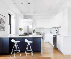 blue and white kitchen image