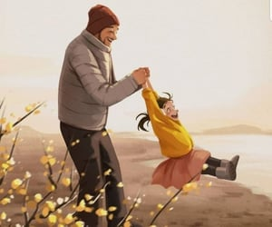father and illustration image