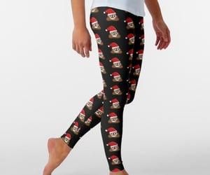 fashion, festive, and funny leggings image