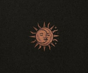 moon, sun, and aesthetic image