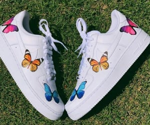 butterflies, paint, and shoes image