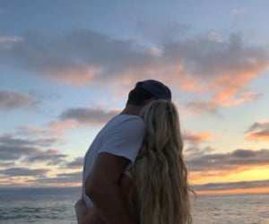 couple, beach, and romance image