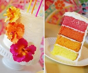 cake, flowers, and orange image