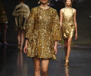 Dolce & Gabbana, runway, and dress image