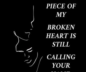 text, brokenheart, and qoute image