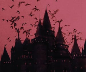 bats, castle, and red image