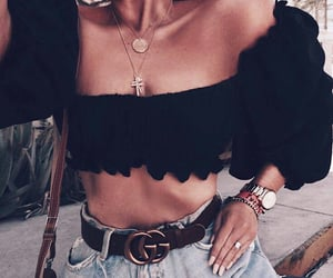 accessories, cool girl, and tummy image