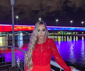 amazing, fashion, and red dress image
