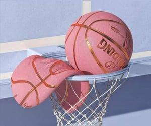 pink, aesthetic, and Basketball image