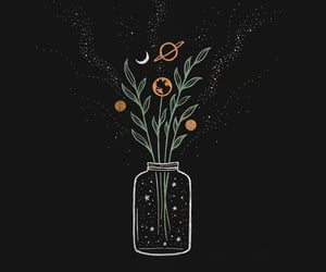 wallpaper, flowers, and universe image