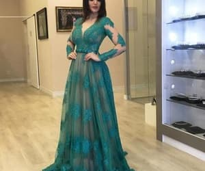 green prom dress, beaded prom dress, and cheap prom dresses image