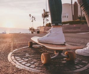 skateboard, aesthetic, and summer image