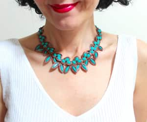 beaded necklace, statement necklace, and tribal necklace image