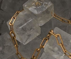 aesthetic, gold, and ice image