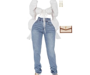 denim, summer, and white image