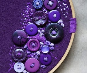 buttons, embroidery, and needlework image