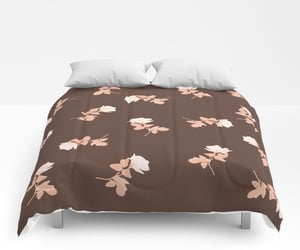 bedding, bedroom, and browndecor image