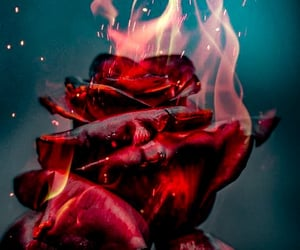 flames, red aesthetic, and photography image
