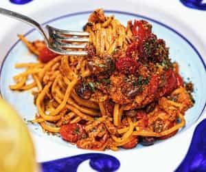 pasta, italian food, and spaghetti image