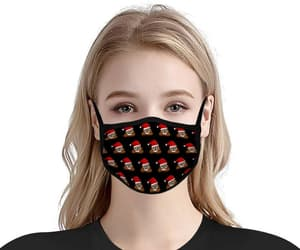 accessories, face cover, and black face mask image