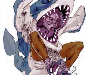 art, girl, and shark image