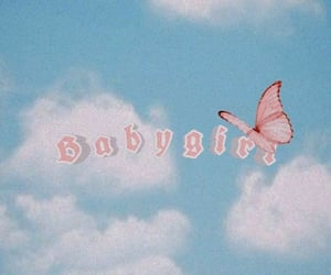 clouds, aesthetic, and butterfly image