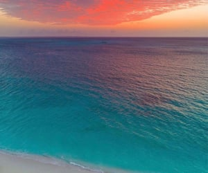 beach, landscape, and sky image