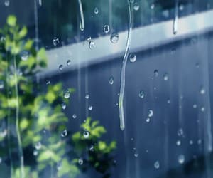 gif, rain, and the garden of words image