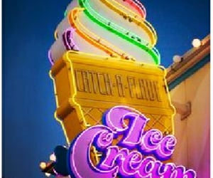 signage, neonsign, and icecreamsign image