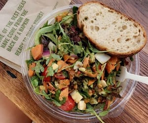 fitness, food, and salad image