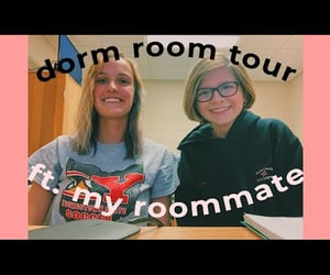 college, video, and college dorm image