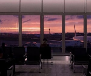 aesthetic, airport, and pink image