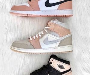 air jordan, black and pink, and nike image