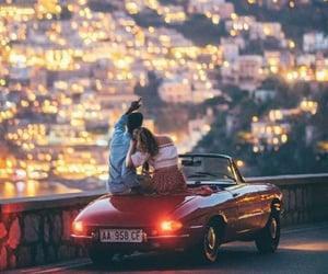 car, couple, and hug image