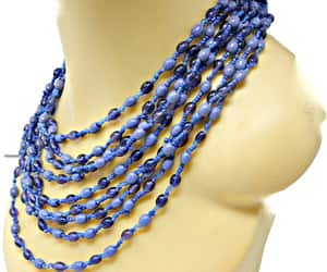 beaded necklace, etsy, and glass bead image