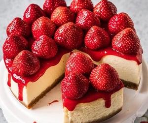 cheesecake, creamy, and dessert image