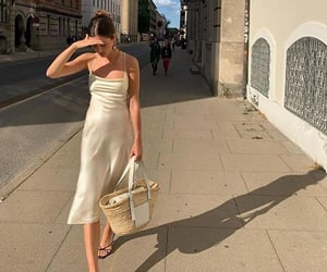 White Summer Dress, everyday look, and cute summer outfit image