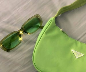 Prada, green, and aesthetic image