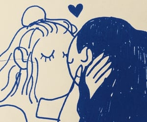 art, drawing, and bisexual image