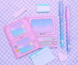 aesthetic, korean, and pastel blue image