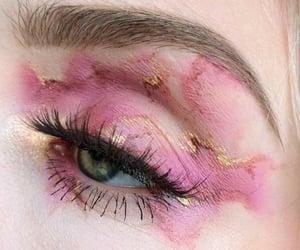 eye, makeup, and pink image