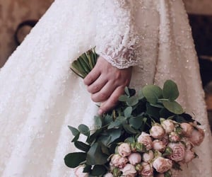 amazing, bouquet, and bride image