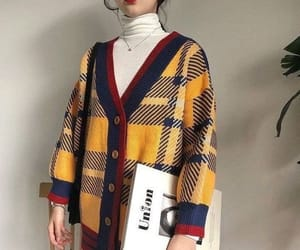 fashion, necklace, and plaid image